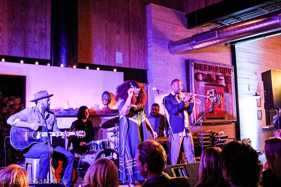 Tameca Jones and Dan Dyer Perform at the Deep Eddy VodkaDistillery