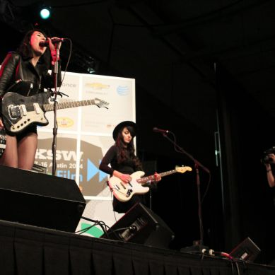 Dum Dum Girls Perform at ACC Day Stage at SXSW