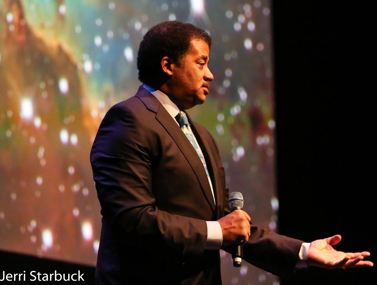 Star Talk's Astrophysicist Neil deGrasse Tyson at Sold out LongCenter