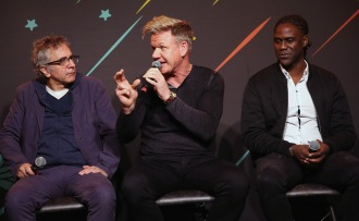 "AUSTIN, TX - MARCH 11: David Worthen, Gordon Ramsay and Mario Melchiot attend ""PHENOMS"" 2018 Soccer Documentary Mini-Series Launch Event at the FOX Sports House at SXSW on March 11, 2018 in Austin, Texas. (Photo by Robin Marchant/Getty Images for ""Phenoms"" ) *** Local Caption *** David Worthen; Gordon Ramsay; Mario Melchiot"
