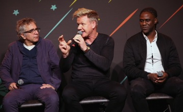 """AUSTIN, TX - MARCH 11: David Worthen, Gordon Ramsay and Mario Melchiot attend """"PHENOMS"""" 2018 Soccer Documentary Mini-Series Launch Event at the FOX Sports House at SXSW on March 11, 2018 in Austin, Texas. (Photo by Robin Marchant/Getty Images for """"Phenoms"""" ) *** Local Caption *** David Worthen; Gordon Ramsay; Mario Melchiot"""