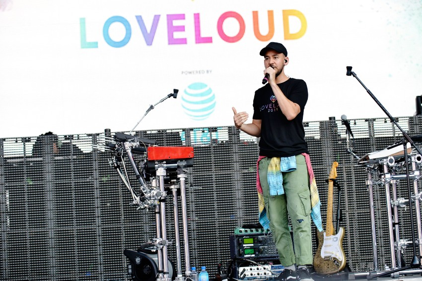 SALT LAKE CITY, UT - JULY 28: Mike Shinoda performs at 2018 LOVELOUD Festival Powered By AT&T at Rice-Eccles Stadium on July 28, 2018 in Salt Lake City, Utah. (Photo by Jerod Harris/Getty Images for LOVELOUD Festival)