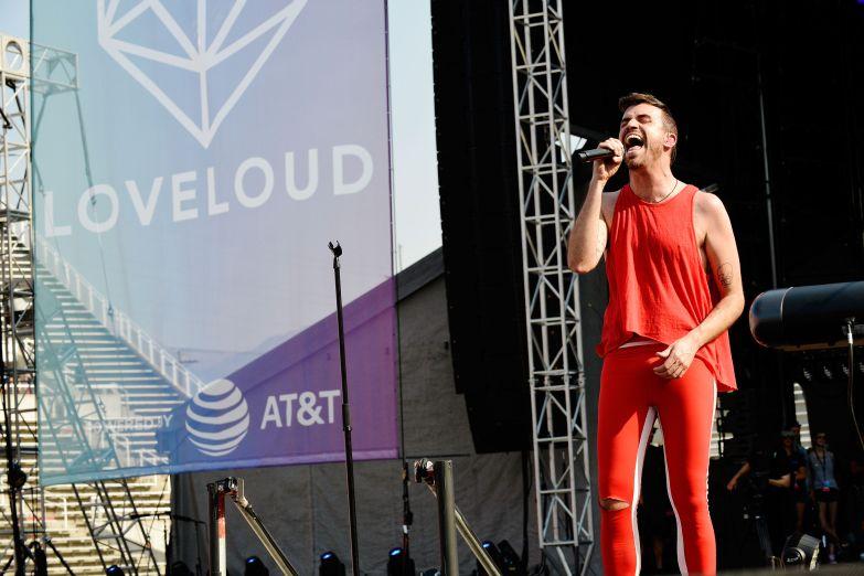 SALT LAKE CITY, UT - JULY 28: Tyler Glenn performs at 2018 LOVELOUD Festival Powered By AT&T at Rice-Eccles Stadium on July 28, 2018 in Salt Lake City, Utah. (Photo by Jerod Harris/Getty Images for LOVELOUD Festival)