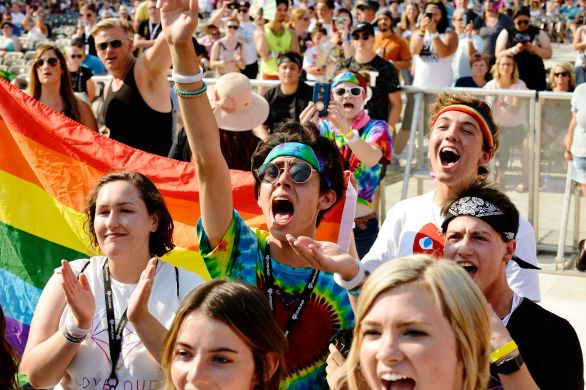 SALT LAKE CITY, UT - JULY 28: A general view of the atmosphere at 2018 LOVELOUD Festival Powered By AT&T at Rice-Eccles Stadium on July 28, 2018 in Salt Lake City, Utah. (Photo by Jerod Harris/Getty Images for LOVELOUD Festival)