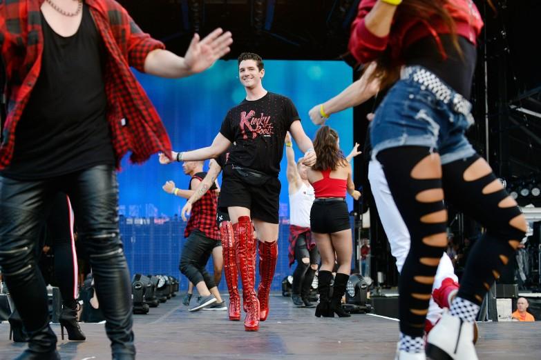 SALT LAKE CITY, UT - JULY 28: Michael Milkanin attends 2018 LOVELOUD Festival Powered By AT&T at Rice-Eccles Stadium on July 28, 2018 in Salt Lake City, Utah. (Photo by Jerod Harris/Getty Images for LOVELOUD Festival)