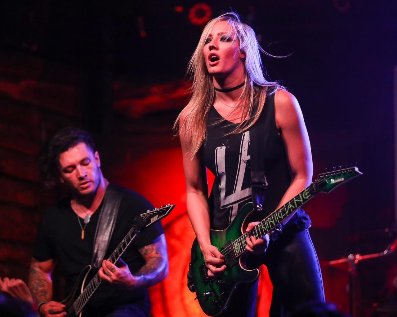 Epic Guitarist Nita Strauss Jammed in Austin –Photos